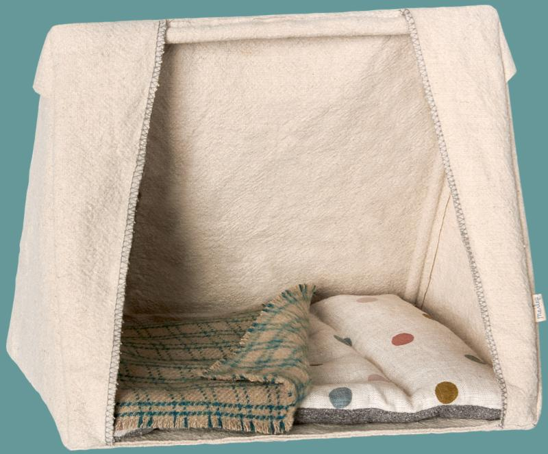 Maileg - Mouse Tent with Mattress and Blanket
