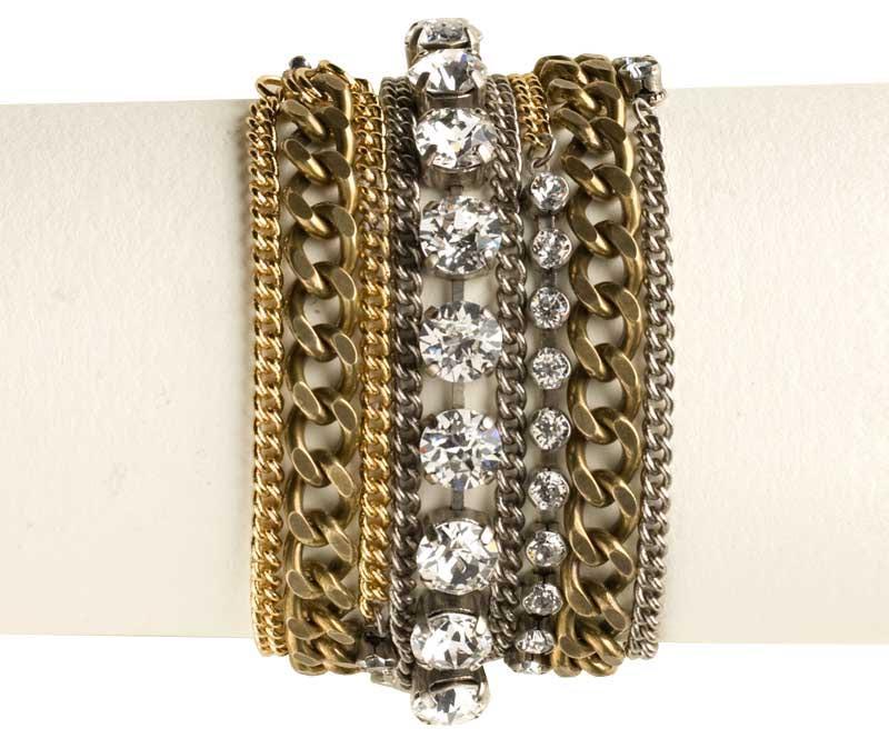 Sorrelli - Mixed Metal and Crystal Wrap Bracelet