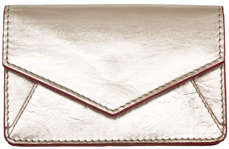Silver Envelope Card Wallet