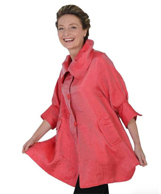 Coral Red Swing Jacket