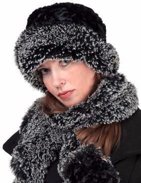 Faux Fur Hat, Scarf and Gloves