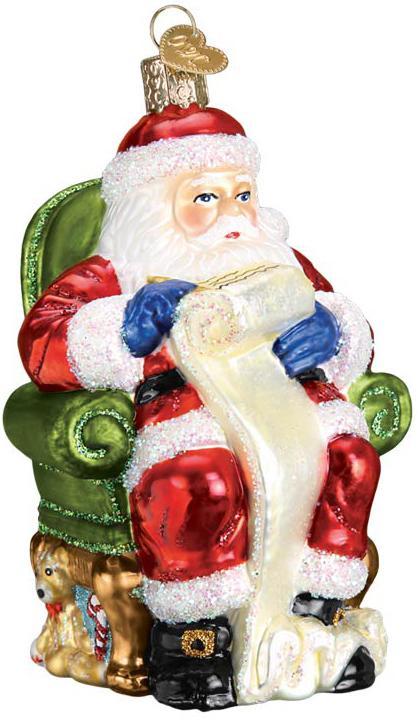 Old World - Santa Checking His List