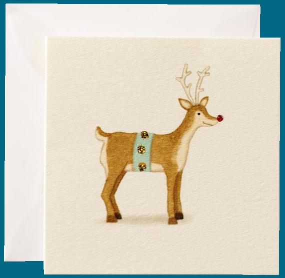 Rudolph the Reindeer Gift Enclosure Card