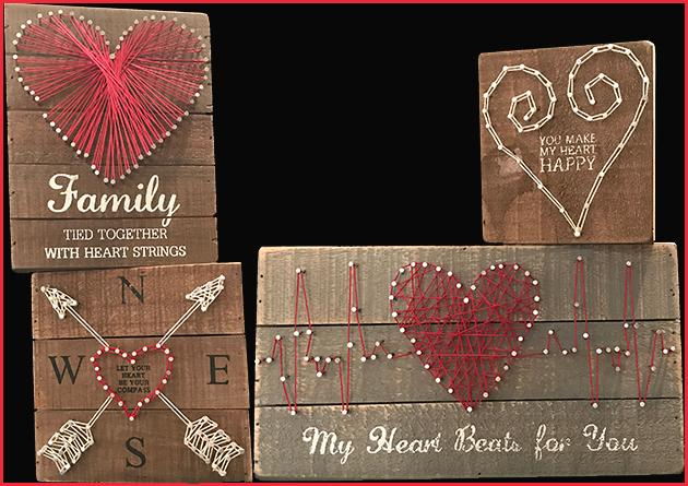 Heart Wooden Signs