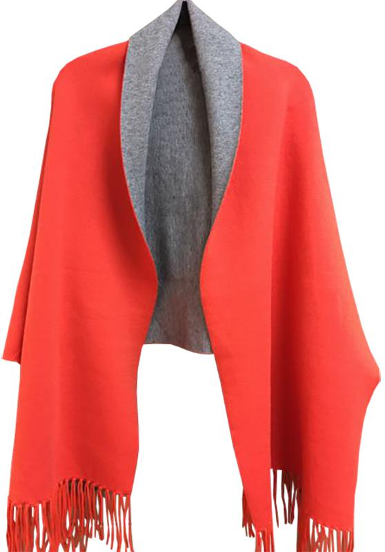 Orange and Gray Reversible Cape