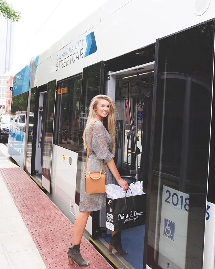 Kylee & OKC Streetcar