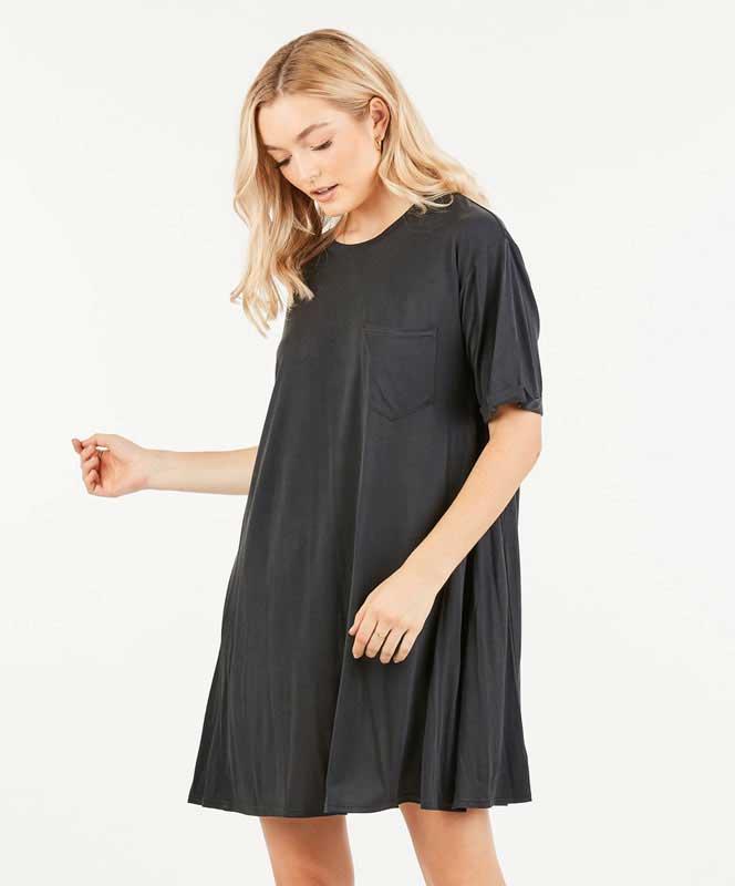 T Shirt Dress - Coal