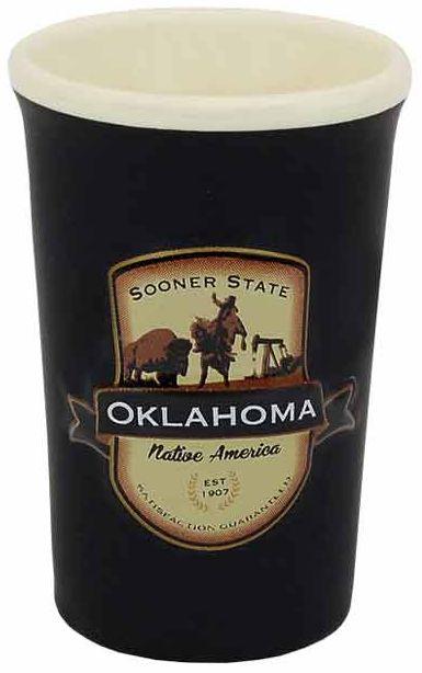 Oklahoma Emblem Shot Glass