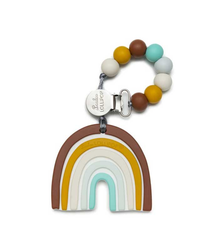 Neutral Rainbow Silicone Teether Set