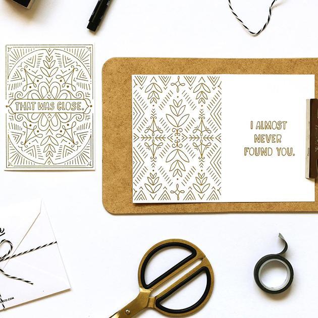 Close-Gold-Foil-Card