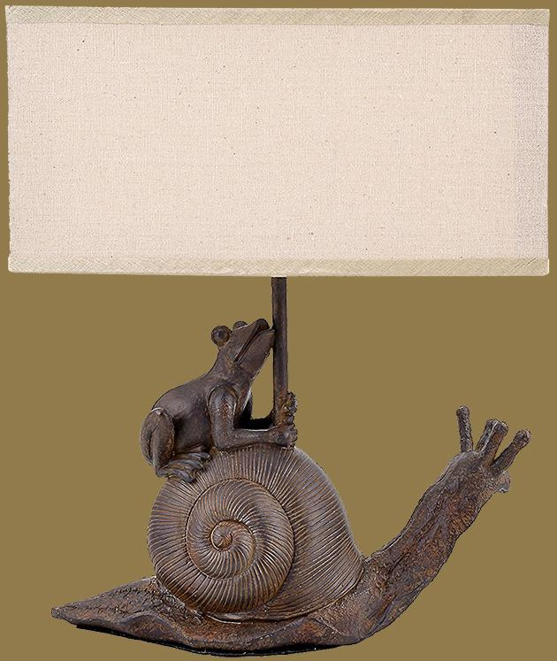 Frog on Snail Lamp