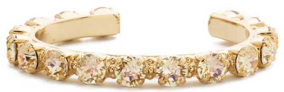 Riveting Romance Cuff Bracelet - Crystal Champagne
