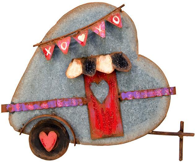 Galvanized Heart Camper