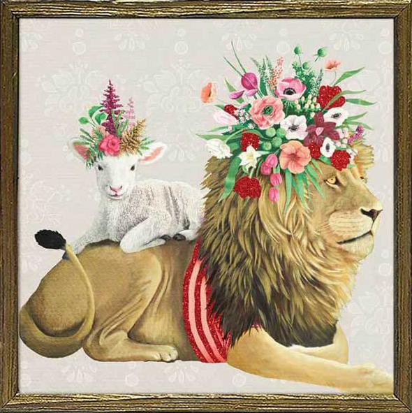 Lion and Lamb Framed Art