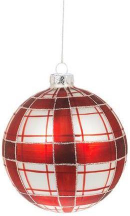 Red Plaid Ornament