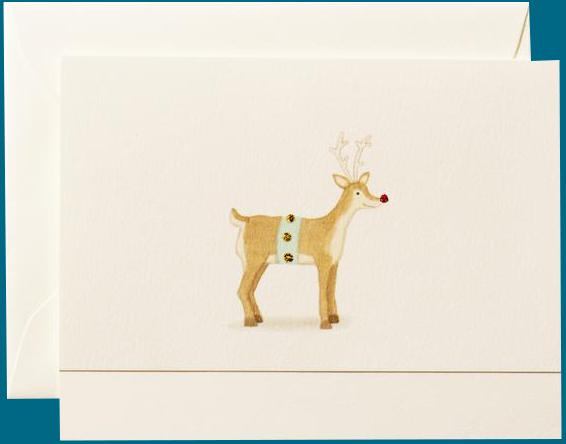 Rudolph the Reindeer Note Card