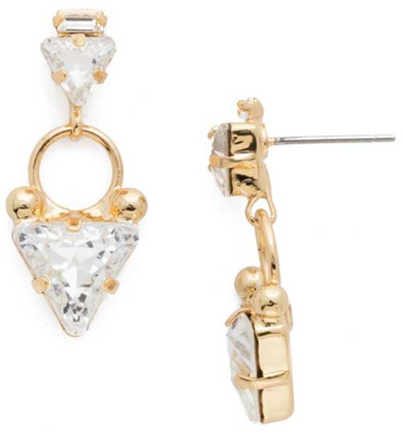 Tri Again Crystal Earrings