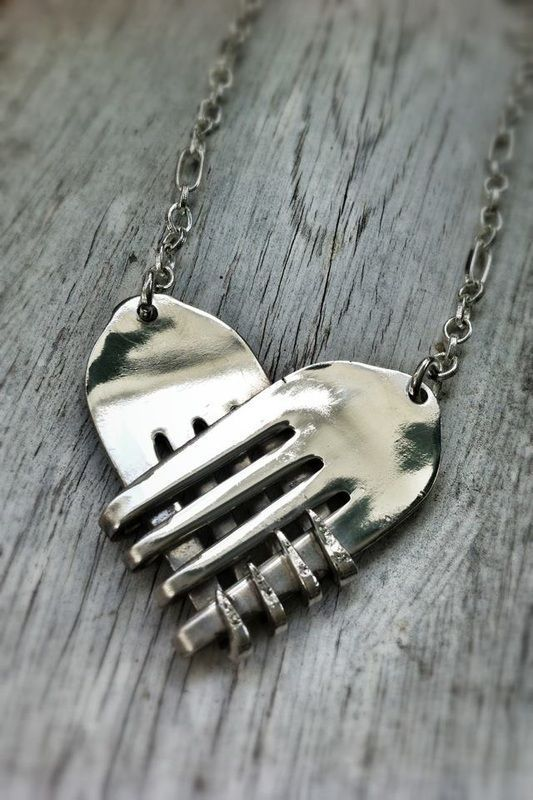 Heart Fork Necklace