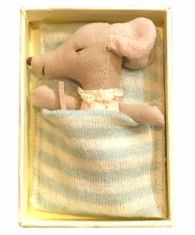 Maileg Sleepy Wakey Baby Girl Mouse