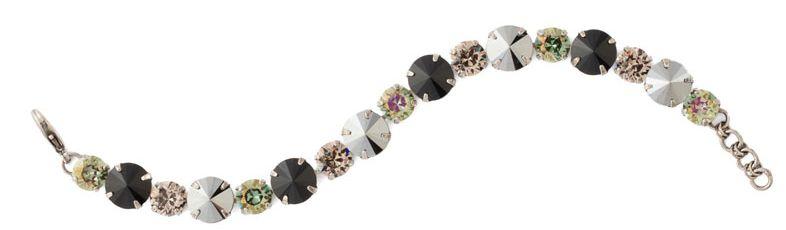 Round Cut Crystal Line Bracelet