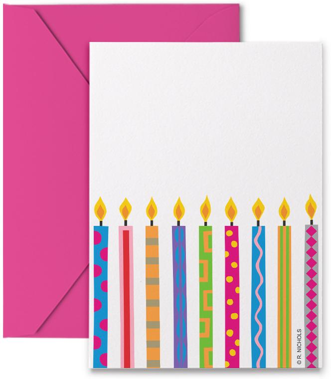 Boxed Gift Tags - Birthday Candles