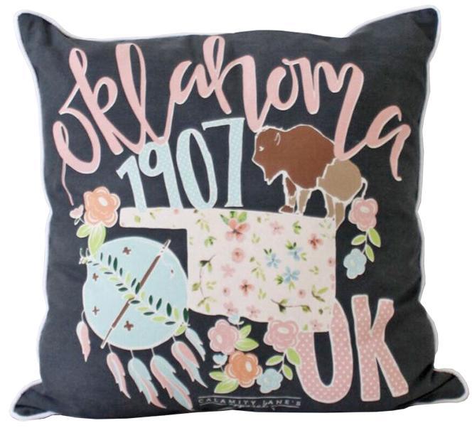 Oklahoma Storybook Pillow