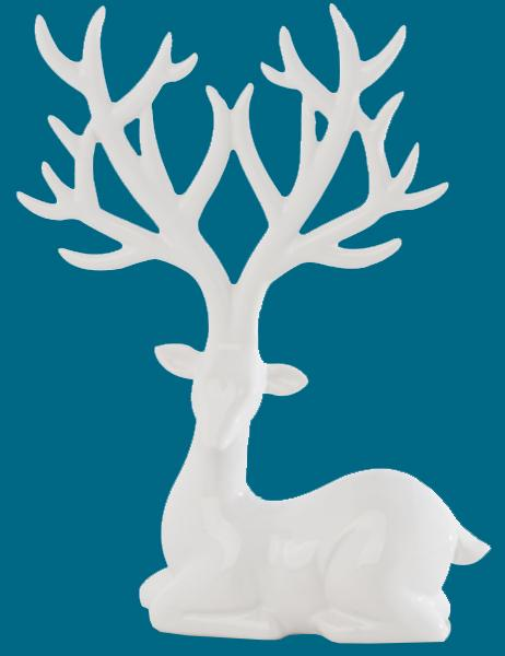 White Deer Ring Holder