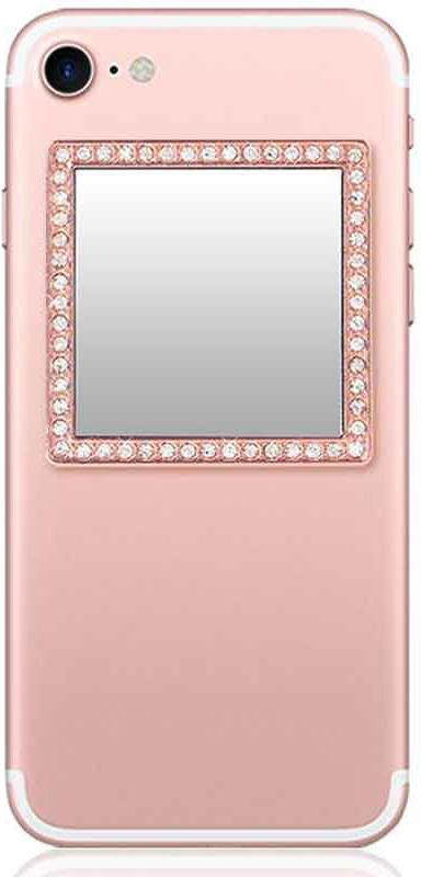 Square Rose Gold Phone Mirror
