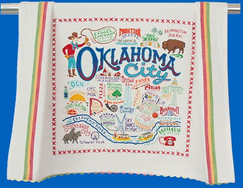 Oklahoma City Dish Towel