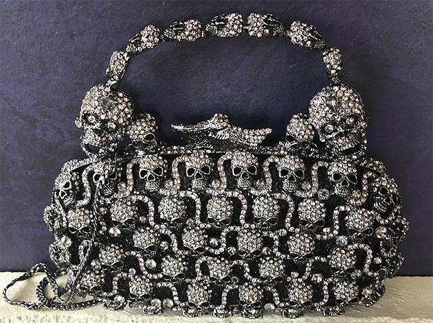 Jeweled Skulls Handbag