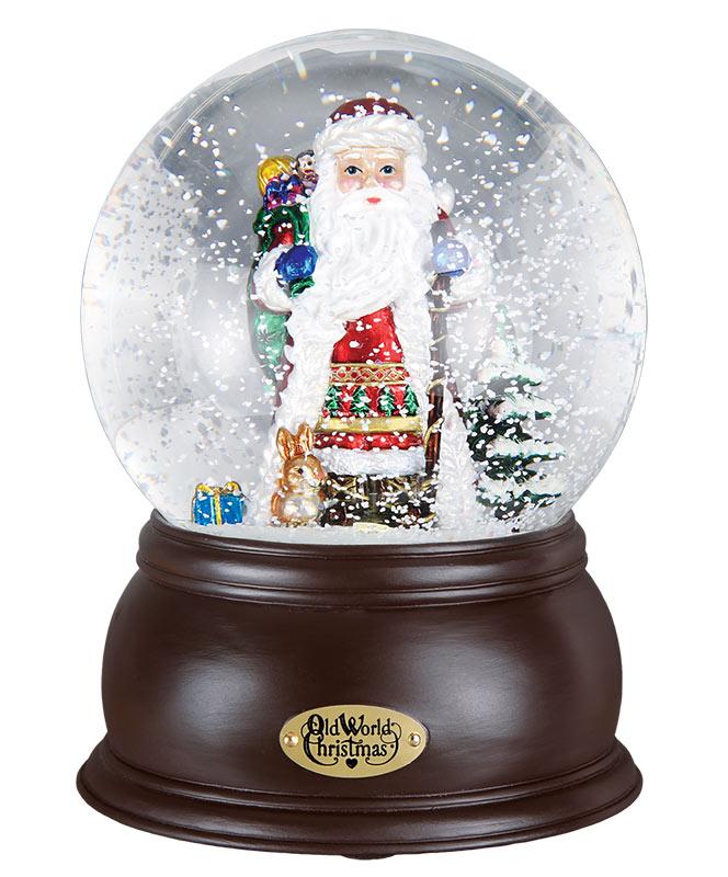 Musical Santa Snow Globe