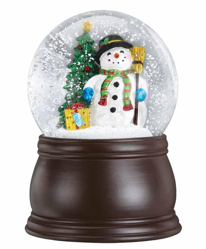 Old World - Gleeful Snowman Snow Globe