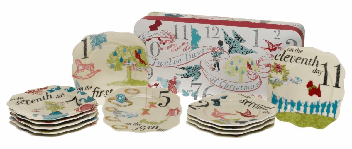 12 Days of Christmas Plates