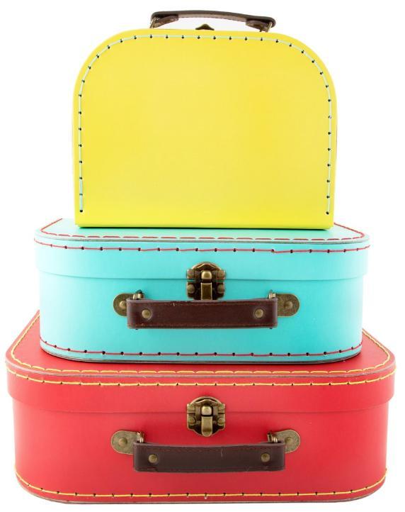 Bright Vintage Suitcases
