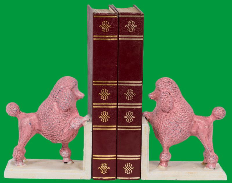 French Poodle Book Ends