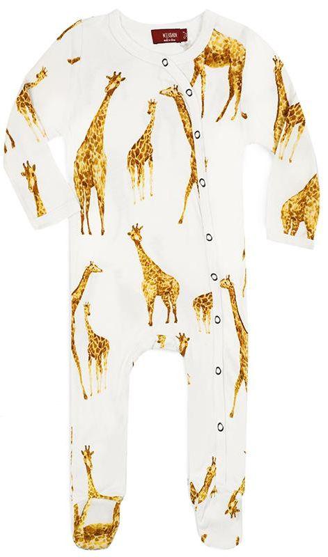 Giraffe Organic Footed Romper