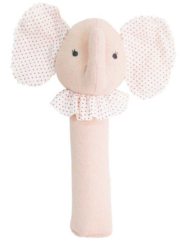 Baby Elephant Squeaker Pink