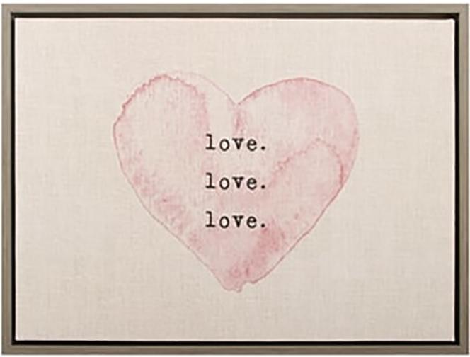 Love Canvas Art Framed