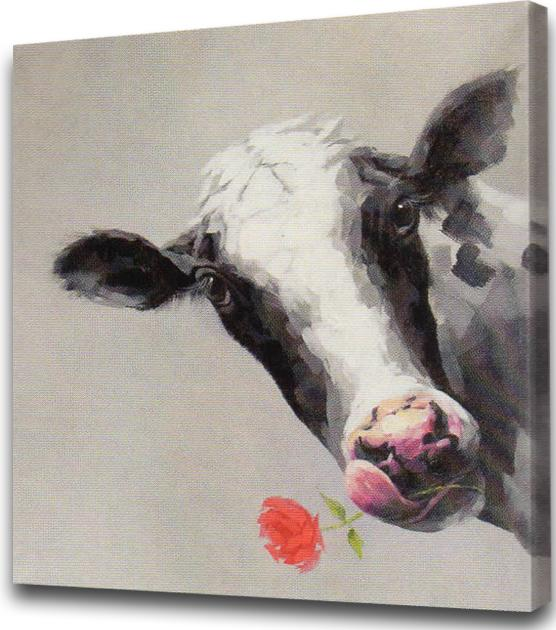 Betsy the Cow on Canvas