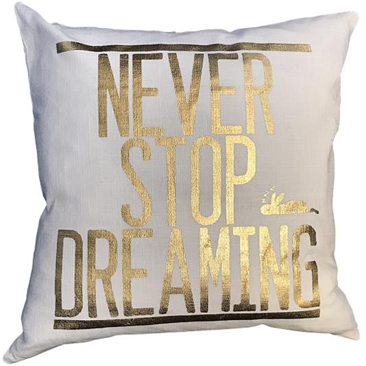Never Stop Dreaming Pillow