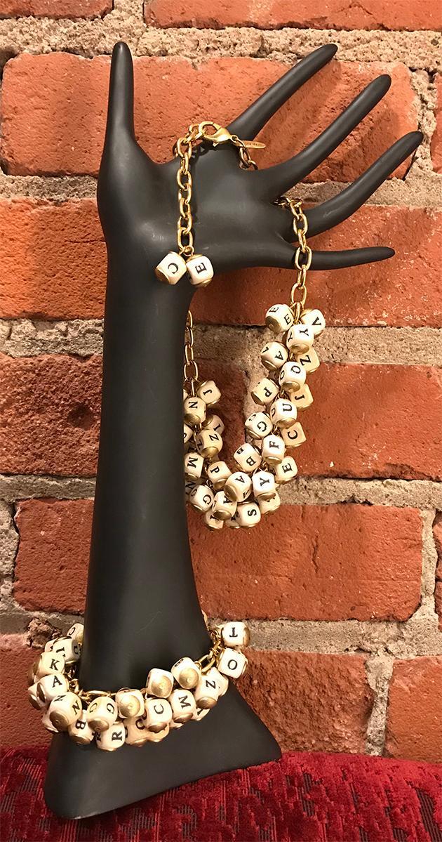 Letter Necklace and Bracelet
