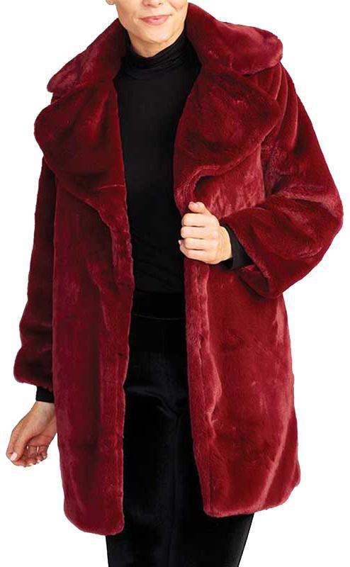 Adrien Faux Fur Coat