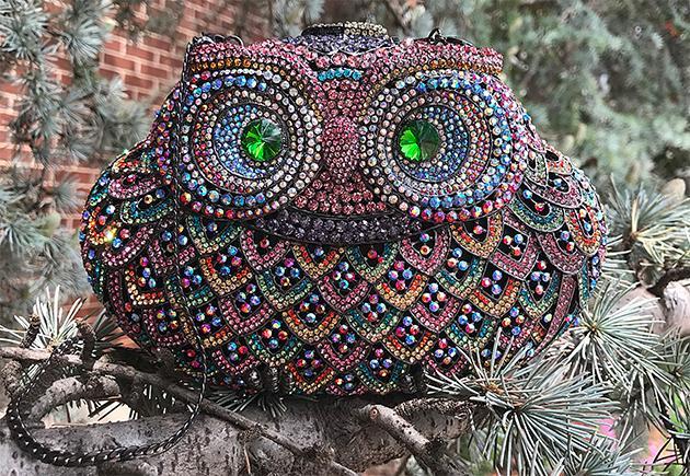 Jeweled Owl Handbag