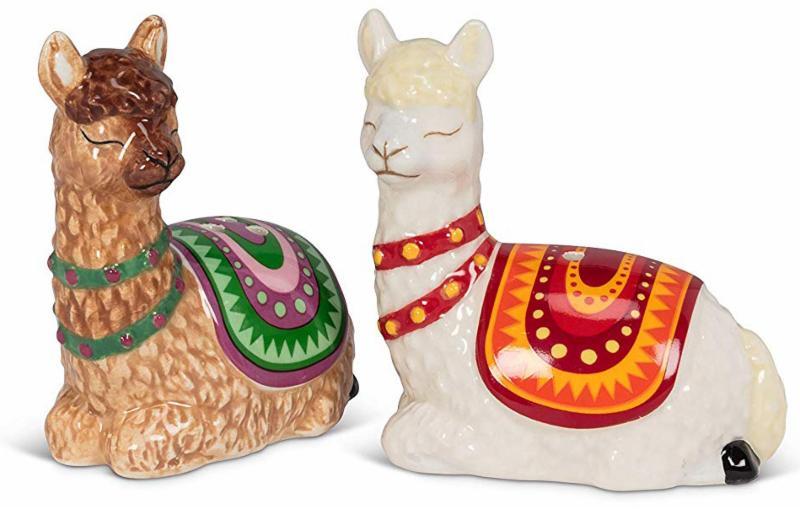 Resting Llamas Salt and Pepper Shakers