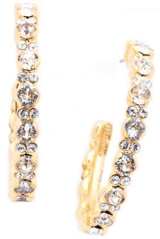 Clear Crystal Hoop Earrings