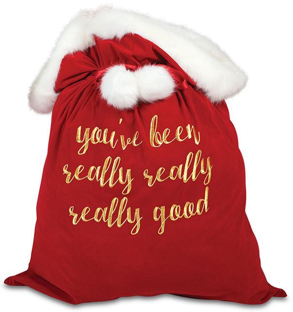Youve been really good santa bag
