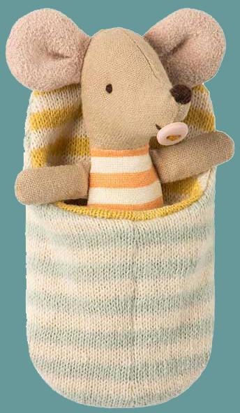 Maileg - Baby Mouse in Sleeping Bag