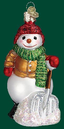 Old World - Shoveling Snowman