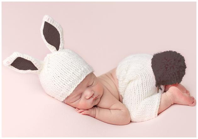 Baby Bunny Knit Hat & Pant