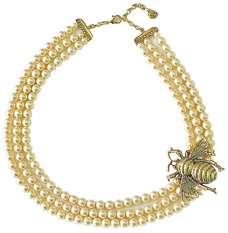 Bee Pearl Necklace